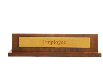 employee nameplate