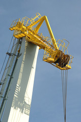 large and modern crane