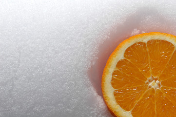 orange on snow