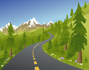 summer mountain road