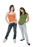 two trendy teen girls poster