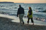 evening beach stroll poster