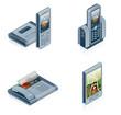 computer hardware icons set - design elements 55f