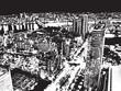 Quadro black and white city background