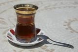 traditional hot black turkish tea poster