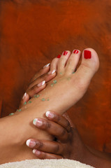 massage foot treatment at day spa