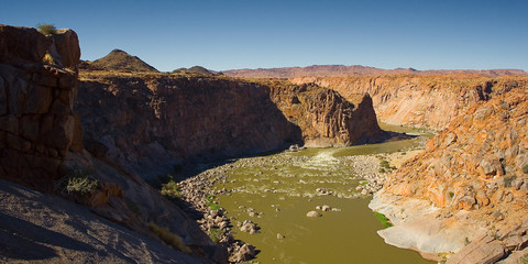 orange river carved canyon