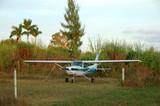 cessna 172 light propeller airplane poster