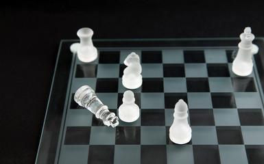 glass chess - checkmate
