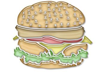 piktogramm aqua: hamburger