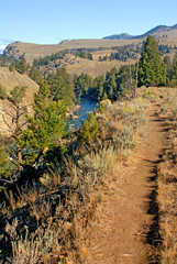 trail over yellowstone river