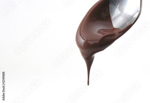 chocolate drips from spoon