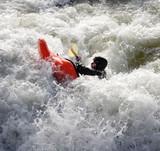 kayak on rapids poster