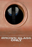 brown glass only poster