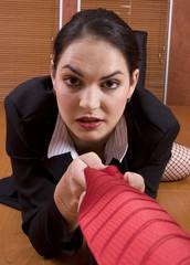 business woman crawl