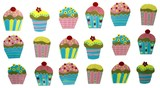 cup cakes. fairy cakes. cake decoration poster
