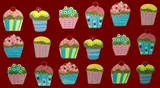 cup cakes. fairy cakes.cake decoration poster