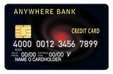 credit card black poster