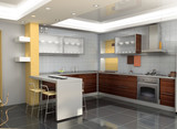 Fototapety modern kitchen interior