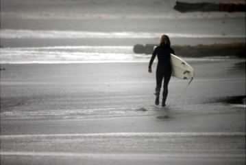 surfer alone