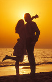 tramonto in spiaggia poster