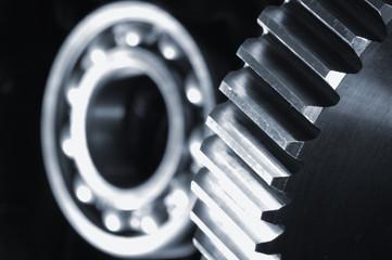 gear and bearing against velvet