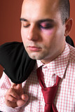 attacked a businessman with black eye poster