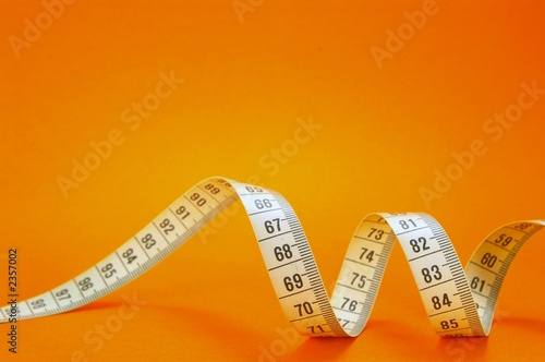 measuring tape on orange