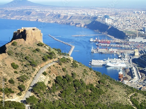 Fotobehang Algerije oran - algérie fort de santa cruz et port
