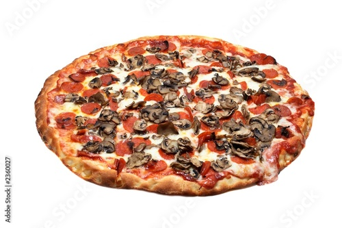 pepperoni and mushroom pizza