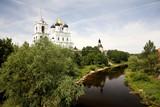 pskov kremlin view, russia poster