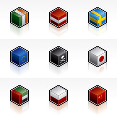 flag icons set - design elements 56a