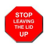 stop sign toilet humor poster