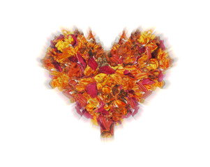 luminous heart from the lobes