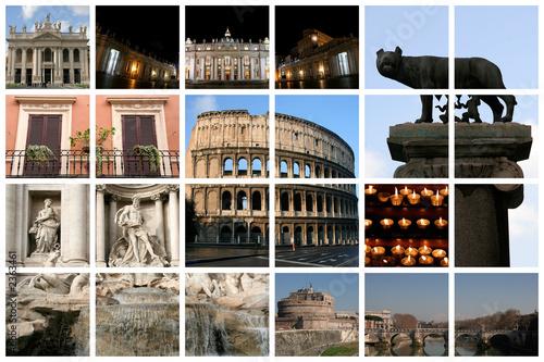 wspaniały kolaż z Rzymu