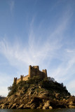 almourol castle and clouds