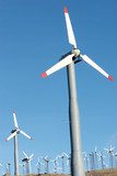 wind turbines generating clean energy poster