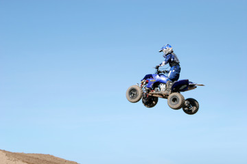 atv jumping in the air