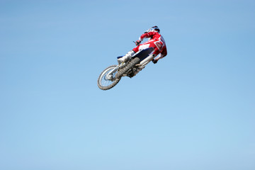 dirt bike jumping