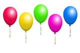 Fototapety bunte luftballons