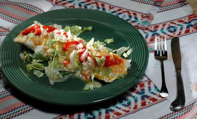 enchilada diner setting