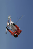 truck driver invert skier poster