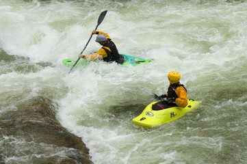 kayakers in river