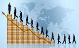 business growth and success - financial graph poster