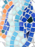 colorful tiled mosaic design poster