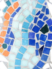 colorful tiled mosaic design
