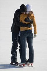 boy and girl on skates