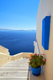 Fototapety stairs down the blue