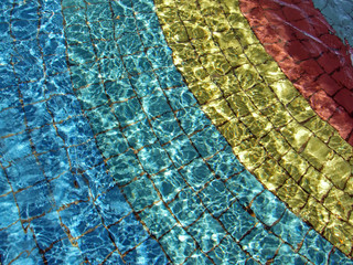 crystal clear water of swimming pool