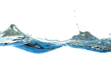 wave of water isolated on white background
